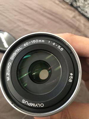 Olympus M.Zuiko digital ED 40-150mm F4.0-5.6 silver for Sale in Los Angeles, CA