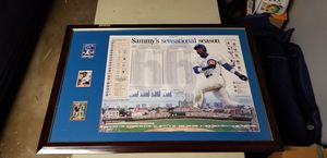 Cubs poster, 3 cards, framed, with rookie card! for Sale in Bolingbrook, IL