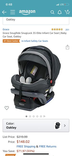 Graco snuglock 35 Infant Car seat for Sale in Elk Run Heights, IA
