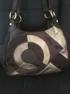 Coach Brass/Chocolate Patchwork Hobo Handbag for Sale in Woburn, MA