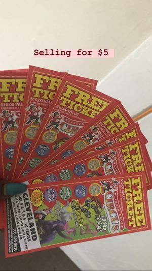 Circus Tickets IX CENTER for Sale in Maple Heights, OH