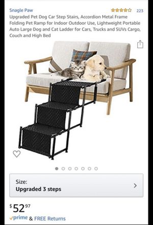 Upgraded Pet Dog Car Step Stairs, for Sale in Fontana, CA