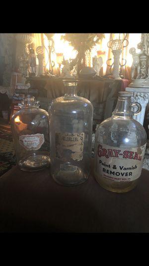 3 large antique bottles for Sale in Newport News, VA