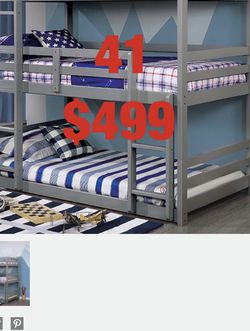 Furniture. Bunk bed. Trundles are $100 Mattresses are extra. Assembly required. Free delivery. for Sale in Santa Ana,  CA