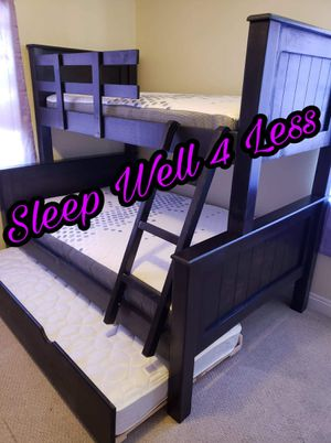NEW💥TWIN/FULL/TWIN BUNK BEDS💥MATTRESS'S INCLUDED💥IN STOCK💥 for Sale in Bellflower, CA