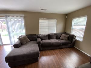 Sofa with chaise lounge for Sale in Beaumont, CA