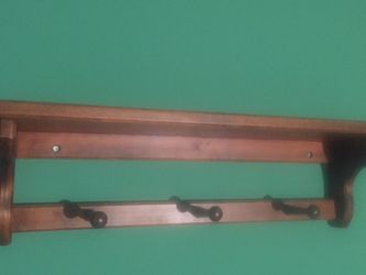Wall Shelf W/ Hooks For Hat, Coat Decor for Sale in Trabuco Canyon,  CA