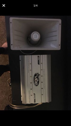 1000 Watts Amplifier & Powerhorn Speaker for Sale in Austin, TX