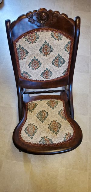 Antique Folding Rocking Chair for Sale in Pasadena, TX