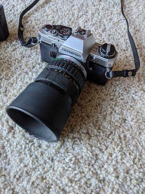 Vintage Camera Olympus OM-10 OM10 35mm Manual Focus Film Camera And Lens Combo for Sale in Santa Clarita, CA
