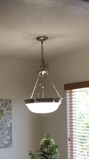 Silver chandelier/ceiling light for Sale in El Cajon, CA