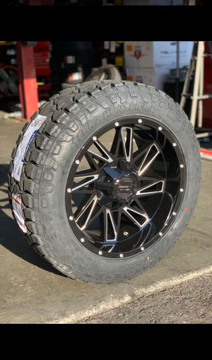 BRAND NEW 20 INCH WHEELS AND TIRES IMPACT 814 20x10 AND TIRES 275/55r20 VENOM POWER R/T TIRES FOR SALE WHEELS AND TIRES $1699 for Sale in San Jose, CA
