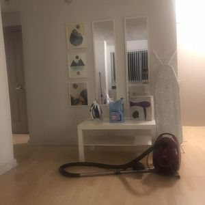 Wall mirrors, iron, ironing board, vacuum cleaner, blow dryer, softener for Sale in Washington, DC