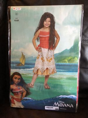 NEW! Disney Moana Costume! (Size 4-6) SEE ALL ITEMS WE HAVE! for Sale in Kissimmee, FL