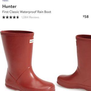 Hunter First Classic Waterproof Rain Boot Toddler for Sale in Manteca, CA
