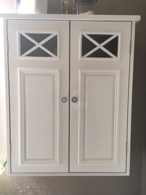 White Wall Bathroom Cabinet for Sale in Orlando, FL