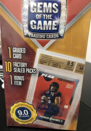 Gems of the Game Football Cards Sealed 1 Graded Card for Sale in Herndon, VA