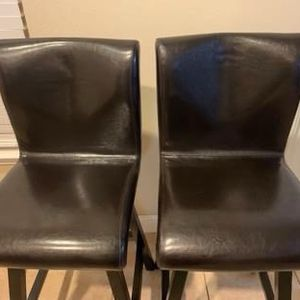 NOAH CHOCOLATE SWIVEL LEATHER BARSTOOL(Brown)set of 2 for Sale in Houston, TX