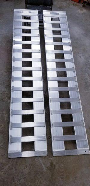 "Car hauler aluminum ramps made in usa trailer traila 7ft x 15"" heavy duty 6000 pounds rampas para traila bobcat diesel etc... for Sale in Fontana, CA"