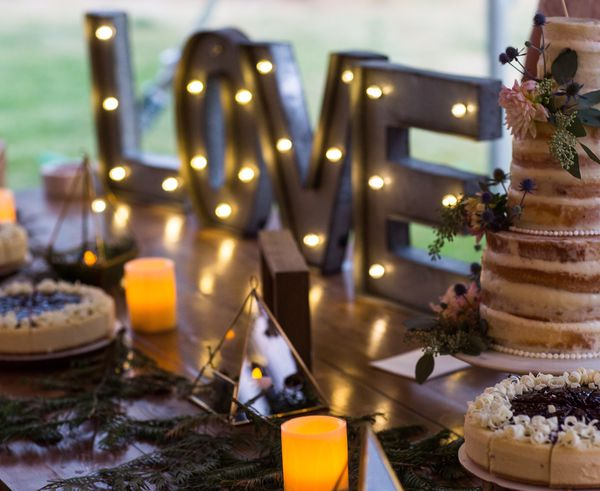 """15"""" Metal """"LOVE"""" """"&"""" Lighted Letters"""