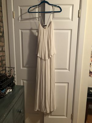 Zara white maxi dress size large for Sale in New York, NY