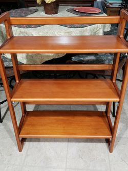 Solid Cherry Folding Shelving / Bookcase for Sale in Germantown,  MD