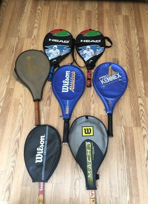 TENNIS RACKETS WILSON, PRO-KENNEX & HEAD $15 each or $70 for all 7. for Sale in Howell, NJ