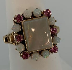 Vintage Opal and Pink Tourmaline Rose Gold Ring for Sale in Upper Marlboro, MD