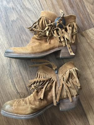 Sam Edelman Fringe Leather Boots sz 7 $125 for Sale in Austin, TX