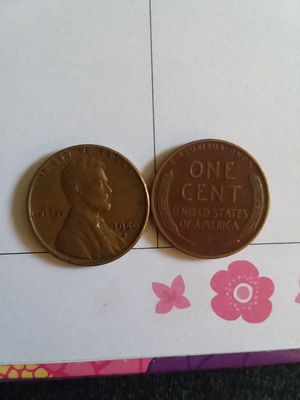 2 of 1956 d wheat pennies for Sale in Hot Springs, NC