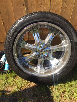 22' Chrome rims for Sale in Dallas, TX