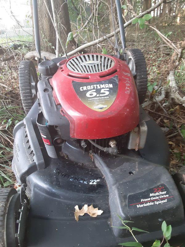 Self propelled craftsman lawnmower