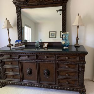 Gorgeous Antique Dresser With Mirror for Sale in Centreville, VA