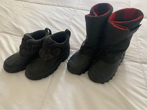 Two Pairs of Kids Size 11 Snow Boots for Sale in Beacon, NY