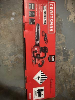 "Craftsman 60V Chainsaw Cordless 16"" for Sale in Miami, FL"