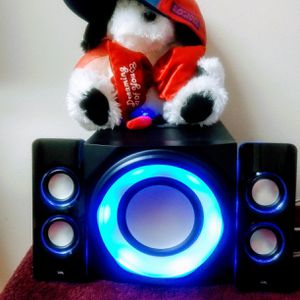 BLUE TUBE SPEAKER MULTIMEDIA 2.1 SPEAKER SYSTEM WITH SUBWOOFER CYBER ACOUSTICS for Sale in Anchorage, AK