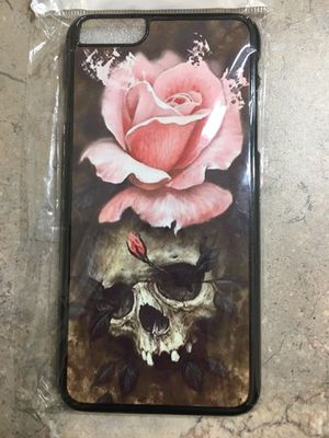iPhone plus skull and rose phone case for Sale in San Diego, CA