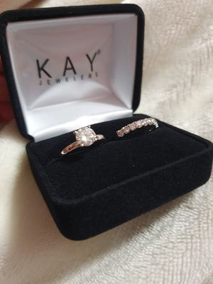1 carat solitaire diamond ring with 1/2 carat wedding band for Sale in Des Plaines, IL
