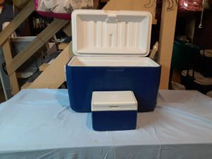 2 Coleman coolers,used for Sale in Glassport, PA
