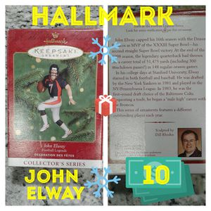 Hallmark John elway Xmas ornament for Sale in Houston, TX