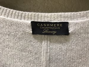 Macy's Charter Club cashmere soft gray poncho, fits small to large for Sale in Vallejo, CA