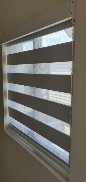 Blinds and shades cortinas y persianas regular o motorizadas zebra shades special for Sale in Miami, FL