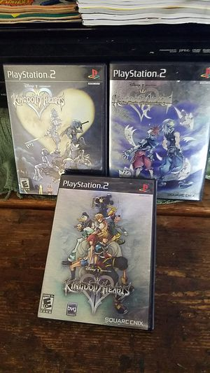 Kingdom hearts series for ps2 for Sale in Ontario, CA