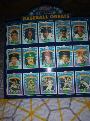 Kelloggs Cornflakes Baseball Greats set of 15 with original cardboard stand for Sale in Chandler, AZ