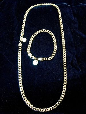CUBAN LINK 18K GOLD NEW CHAIN MADE IN ITALY for Sale in Beverly Hills, CA