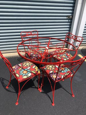 Antique Outdoor Iron Table/Chairs for Sale in Knightdale, NC