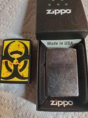 Zippo lighters, 1 new w/case , 1 used for Sale in Murfreesboro, TN
