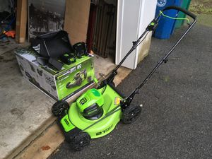 Green works 60v mower for Sale in North Billerica, MA