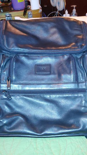 Men's tumi leather backpack for Sale in Bacliff, TX