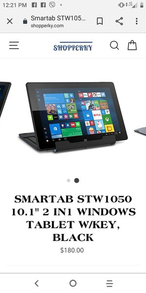 Smart tab 10.1 Inch Android Intel Core-Prossesser Windows 32GB Storage for Sale in Lorain, OH